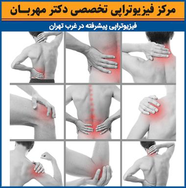 محلهای کشیدگی عضلات