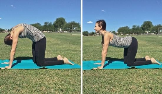 حرکت مفید برای درد وسط کمر