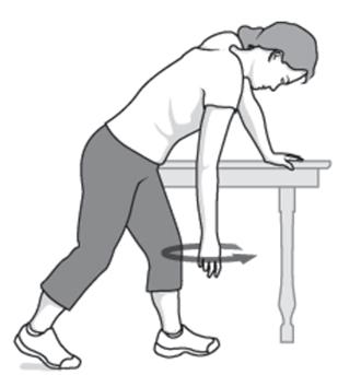 ورزش کشش پاندول برای یخ زدگی شانه